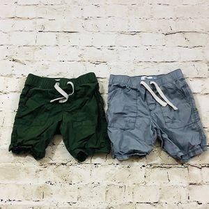 Boys 4T Olive green and light gray shorts NWOT